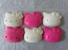 Large Hello Kitty Crayon Set of 8 in Pink and White