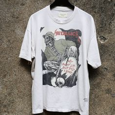 "Image of <FONT color=""RED"">NEW</FONT> FEAR OF GOD - Resurrected Vintage Tee Metallica Blood"
