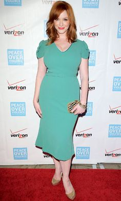 Spring's Most Flattering Dresses for Every Shape - Christina Hendricks: Large Bust from #InStyle