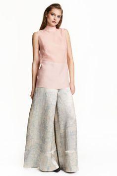 Blusa em chiffon com seda   H&M