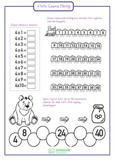 3rd Grade Math Worksheets, School Worksheets, 2nd Grade Math, Math Games, Math Activities, Math School, Cycle 2, Multiplication Facts, Math For Kids