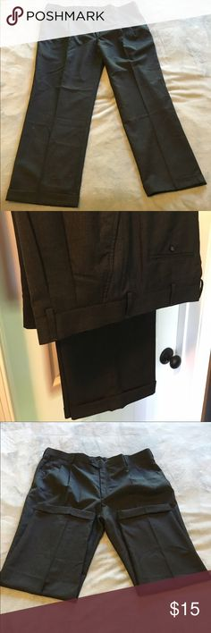 Men's Stafford Classic fit travel trousers / pants Dark grey Stafford Classic fit dress pants, Shell: 52% wool/48 % polyester, lining 100% polyester, size 42 x 30, only twice worn Stafford Pants Dress
