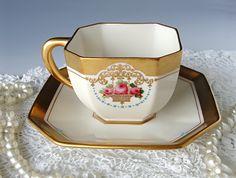 Antique Lenox American Belleek Tea Cup and by TeacupsAndOldLace