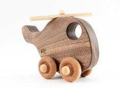 organic wood toy helicopter   natural wooden by SmilingTreeToys, $22.00