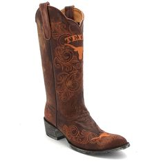 "Game Day UT Longhorn 13"" Women's Brass Boot at Maverick Western Wear"