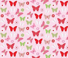Amy Frances Designs Butterfly Light Pink