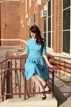 Old-Fashioned Blue Dress. I would have great admiration for a girl such as this.