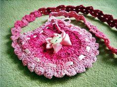 bolsa em croche rosa laço hello kitty em croche com receita