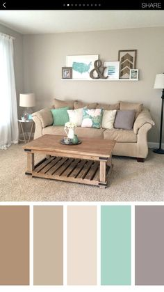 √ 35 Best Living Room Color Scheme Ideas Brimming With Character Beautiful small living room color schemes that will make your room look professionally designed for you that are cheap and simple to do. Living Room Color Schemes, Brown Living Room, Cozy Living Rooms, Living Room Diy, Living Room Designs, Pastel Colors Living Room, Living Room Paint, Living Decor, Room Design