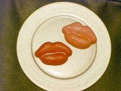 Edible Gumpaste Lips Kiss CakeTopper and Cupcake by GumpasteGarden, $10.00