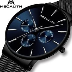 🥇Buy Watches ✅ Wholesale Price MEGALITH Watch Mens Sports Waterproof Watches Top Brand Luxury Mesh Strap Chronograph Date Quartz Watch For Men ~ smart watch sport watch G Shock Watches, Casio G Shock, Sport Watches, Cool Watches, Wrist Watches, Gps Watches, Fancy Watches, Black Watches, Unique Watches