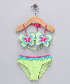 Pink Butterfly Polka Dot Bikini - Infant & Toddler