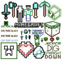 Minecraft embroidery designs