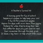 Preschool Teacher Survival Kit Poem A Teacher's Survival Kit A ...