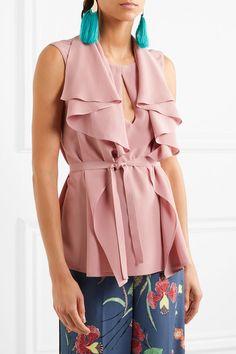 ETRO ravishing Ruffled silk crepe de chine blouse