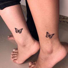 """Tattoo Art TFX no Instagram: """"Borboletas delicadas. Para quem curti mini tattoos 🦋 Orçamento WhatsApp 99532-9369"""""""