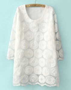 White Lace Dress. So classic. So Perfect! #white #lace #dress