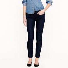 J CREW TOOTHPICK Ankle Cigarette SKINNY Jeans sz 28 Dark Wash Low Rise Stretch 6