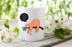 Coffee Mug - Sloth Coffee Mugs - Funny Mugs - I Need Some Coffee Mug - Coffee Lover Gift - Coffee Cup - Sloth I Need Some Coffee Mug by 3CStylesandPrints on Etsy