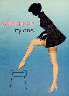 "poboh: "" ""Morley Nylons"", Vintage Lingerie Ad, "" I have a couple of pairs of these, and have been known to actually wear them to work. Some people might want to keep them untouched in the. Vintage Stockings, Nylon Stockings, Stockings Lingerie, Vintage Fur, Vintage Models, 1950s Fashion, Vintage Fashion, Pin Up, Chic Et Choc"