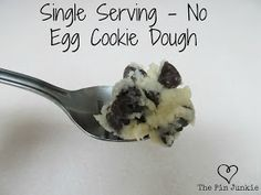 Single Serve Eggless Chocolate Chip Cookie Dough - made with Pamela's Artisan gf flour blend