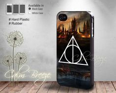Hogwarts Deathly Hallows  Print on Hard by SamanthaCalmBreeze, $14.99