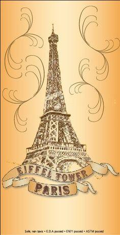 Fake Eiffel Tower tattoo design #eiffeltower #ink #tattoo