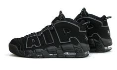 Nike Air More Uptempo Knicks, Nike Air More Uptempo Herr Reflekterande Metallic Svart Silver Metallic Nike Air Uptempo, Nike Shoes, Sneakers Nike, Jordan Sneakers, Reflective Shoes, Trainer Boots, Nike Max, Triple Black, Mens Nike Air