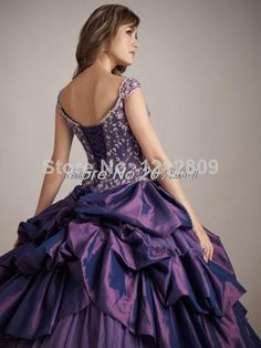Quinceanera Dresses 2014 New Ball Gown Floor Length Sleeveless off-shoulder taffeta dress with embroidery beading QU-46