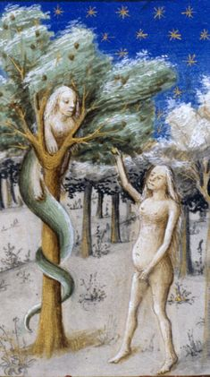 Wives and Wenches, Sinners and Saints: Women in Medieval Europe: Digital Collections for the Classroom Muse Kunst, Renaissance Image, Adam Et Eve, Tarot, Medieval Paintings, Bible Illustrations, Muse Art, Image Fun, Ancient Egyptian Art