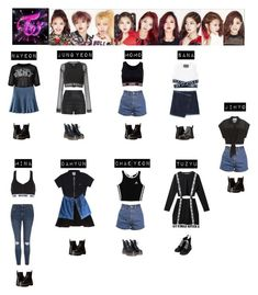 A fashion look from January 2017 featuring LBD Little Black Dress, shirt top and sheer shirts. Browse and shop related looks. Kpop Fashion Outfits, Stage Outfits, Dance Outfits, Girl Outfits, Cute Outfits, Kpop Costume, Next Clothes, Clothes For Women, Mode Kpop