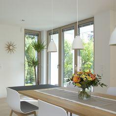 Big windows offer plenty of natural light. Feng Shui, Big Windows, Bright Lights, Natural Light, Design, Contemporary Windows, Windows And Doors, Large Windows, Design Comics