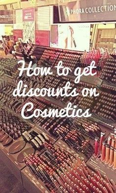 How to get discounts on beauty products  Sephora, elf Cosmetics, Burt's Bees, ULTA. BEST PIN EVER!