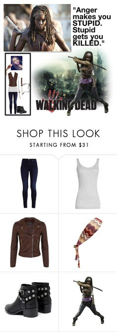 """""""The Walking Dead- Michonne"""" by batgirl-at-the-disco3 ❤ liked on Polyvore featuring Vince, Miss Selfridge, Missoni, Senso, McFarlane and White Label"""