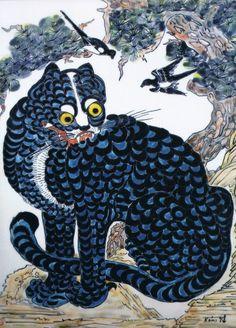 Korean/Japanese tiger painting