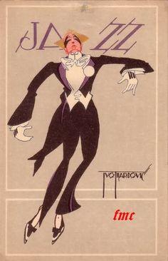 old Croatian Art Deco poster for Ivo Tijardovic: JAZZ.