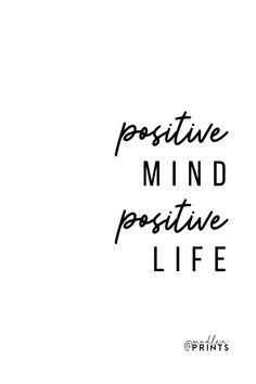 Positive Mind Positive Life print is a high quality instantly downloadable printable wall art. Decor your home, nursery or office in an affordable way! Print it and frame it - it's really that easy! #etsyquote #printableart #homedecor Printable Planner, Printable Wall Art, Printables, Positive Mind, Positive Vibes, Frame It, Quote Prints, Gifts For Women, Art Decor