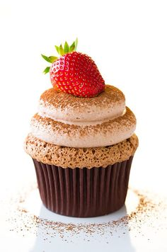 Chocolate Angel Food Cupcakes with Chocolate Cream Cheese Whipped Cream | Cooking Classy