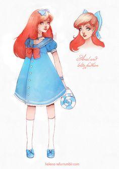 Ariel and lolita fashion by Moon-In-Milk.deviantart.com on @DeviantArt