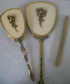 141 Best Vintage Vanity Set Mirror Brush Comb Images Dressing