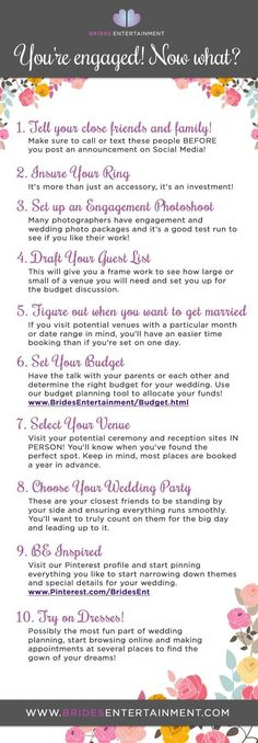 Newly engaged and wondering what you should do next. Look no further with these tips of what to do after saying yes to that ring
