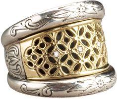 Konstantino Lattice Diamond Ring - $750.00