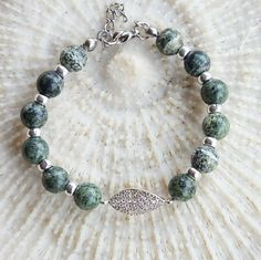 Mother's day sale Serpentine Bracelet Green by CharmByIA on Etsy, $35.00