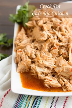 Another copycat Cafe Rio Chicken recipe to try.