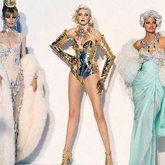 "claudiaschiffer1: ""THIERRY MUGLER Haute Couture Fall Winter 1995 """
