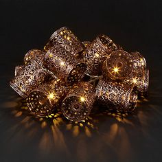 Buy John Lewis Moroccan LED Lantern Line Lights, x 15, Bronze Online at johnlewis.com