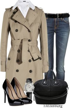 """No. 197 - Trench coat"" by hbhamburg ❤ liked on Polyvore"