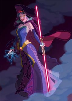 Sci-Fi Royal Cartoons - The Star Wars Disney Princess Project Turns Them into Jedis and Siths (GALLERY)