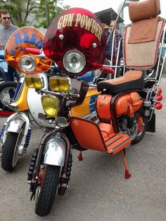 Lambretta 'skelly' style popular with skinheads and suedeheads in the 70s
