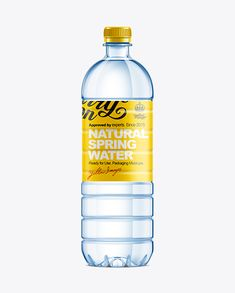 1L Plastic Water Bottle Mockup. Preview